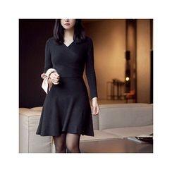 MASoeur - V-Neck A-Line Knit Dress