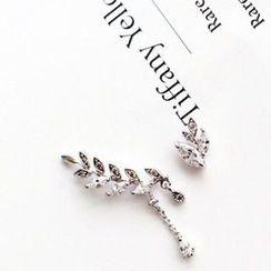 Utsukushi - Leaf Non-Matching Earrings