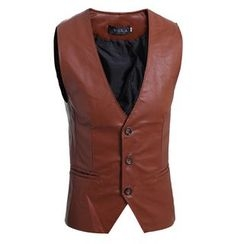 Hansel - Faux Leather Vest