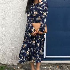 Cloud Nine - Floral Print Chiffon Dress