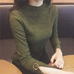 Anlay - Silm-Fit Ring-Accent Long Sleeve T-Shirt