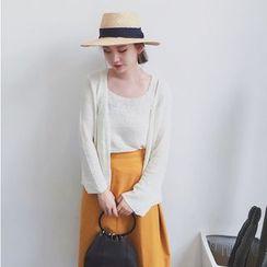HL哈嘍妹妹 - 套裝: 針織背心 + 開胸外套