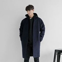 Seoul Homme - Wool-Blend Open-Front Coat