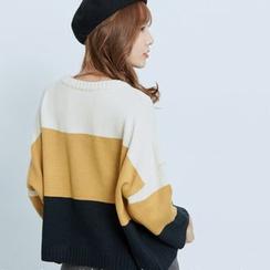 BAIMOMO - 插色毛衣