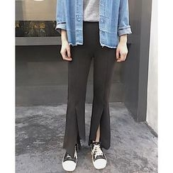 COMON - Slit Boot Cut Pants