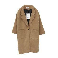 Eva Fashion - Plain Knit Lapel Coat