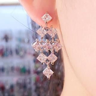 Supermary - Rhinestone Earrings