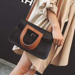 Pandabada - Faux-Leather Buckled Satchel