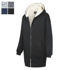 DANGOON - Fleece-Lined Long Knit Hoodie