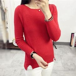 Polaris - Notch Hem Knit Top