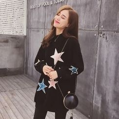Cocofield - Star Loose-fit Sweatshirt
