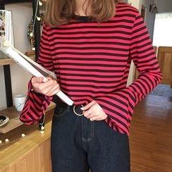Cattie - Striped Long-Sleeve T-Shirt