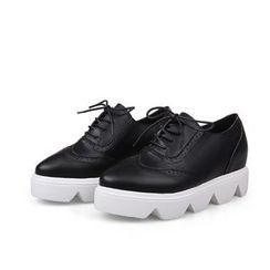 Mancienne - Cutout Platform Oxford Shoes