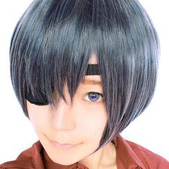 Ghost Cos Wigs - Cosplay Wig / Eye Mask - Black Butler Ciel Phantomhive