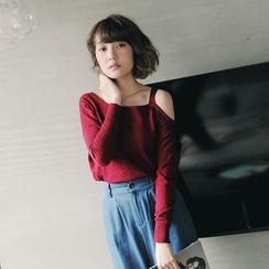Tokyo Fashion - Cutout-Shoulder Knit Top