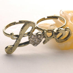 "Fit-to-Kill - ""Love"" Double Ring"