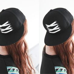 NIPONJJUYA - 繫帶棉質帽