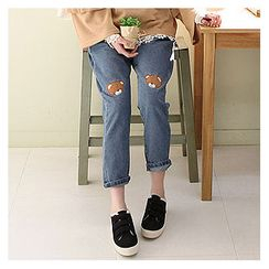 Sechuna - Band-Waist Baggy-Fit Jeans