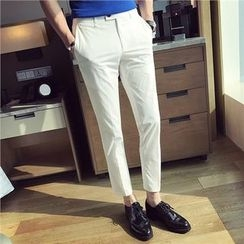 Simsam - Cropped Slim Fit Pants