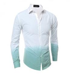 Hansel - 漸變色領帶-紮染長袖襯衫