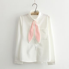 Moricode - Ear Tie Neck Shirt