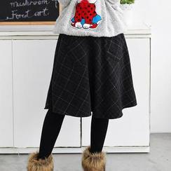 59 Seconds - Check A-Line Midi Skirt