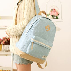 Canvas Love - Polka Dot Canvas Backpack