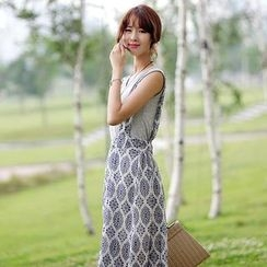 Stylementor - Patterned Jumper Skirt