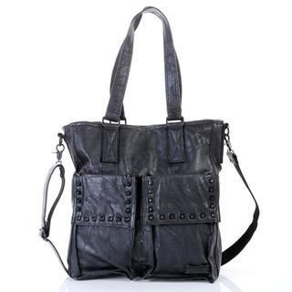 deepstyle - Faux Leather Studded Shoulder Bag