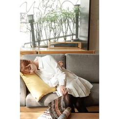 CHERRYKOKO - 摺摆棉质衬衫连衣裙