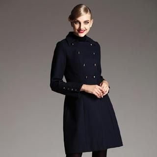 Le Teresa - Double-Breasted Wool Blend Coat