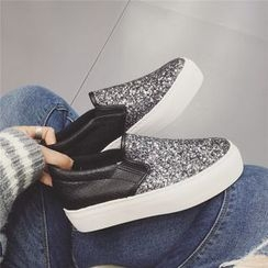kokoin - Glitter Platform Slip-Ons