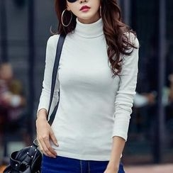 Cottony - High Neck Long-Sleeve T-Shirt