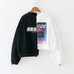 Sunny Day - Color Block Asymmetric  Sweatshirt