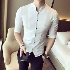 Blueforce - Elbow-Sleeve Stand Collar Shirt