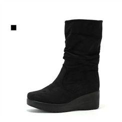 MODELSIS - Faux-Leather Platform Boots