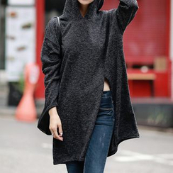 Fashion Street - Slit Fleece Hoodie