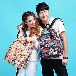 Mr.ace Homme - Printed Nylon Couple Backpack