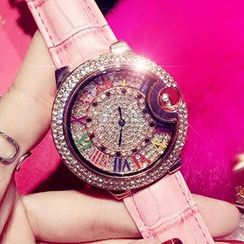 Nanazi Jewelry - Embellished Strap Watch
