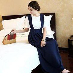 SEYLOS - Set: Short-Sleeve T-Shirt + Jumper Maxi Skirt