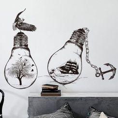 LESIGN - Light Bulb Wall Sticker