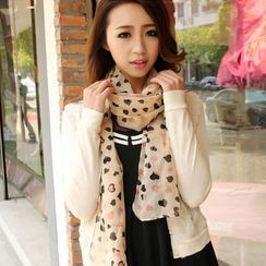 Cuteberry - Heart-Print Scarf