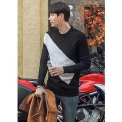 GERIO - Round-Neck Color-Block Sweater