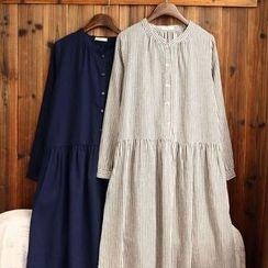 tete - 條紋襯衫裙