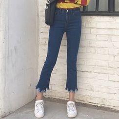Ashlee - 散边靴形牛仔裤