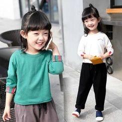 Merry Go Round - Kids Heart Print Long-Sleeve T-Shirt