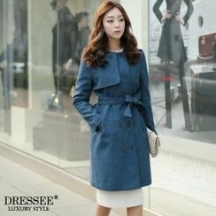 DRESSEE - Double-Breasted Trench Coat