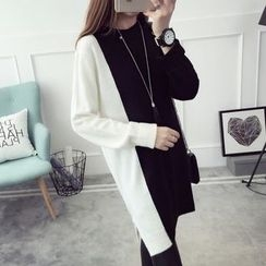 Qimi - Two-Tone Knit Dress