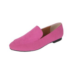 DABAGIRL - Colored Faux-Suede Flats