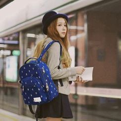 SUPER LOVER - Flower Printed Backpack
